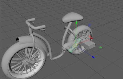 自行车,小孩儿童自行车maya模型