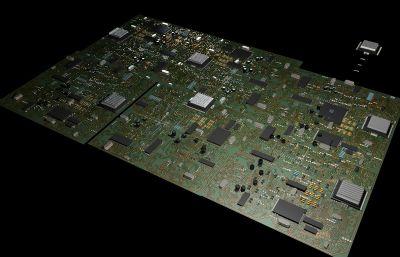 �路板C4D模型