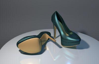 防水�_高跟鞋OBJ模型