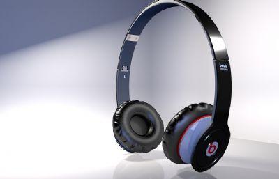 耳机OBJ模型,Beats耳机