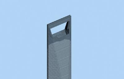 東方明珠,經貿大廈,環球金融中心三個浦東地標建筑3D模型