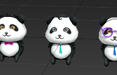 三只可�鄣男茇�玩偶3D模型