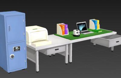 卡通風格辦公桌3D簡模