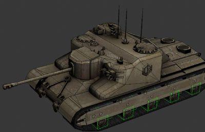 英國AT15坦克3D簡模