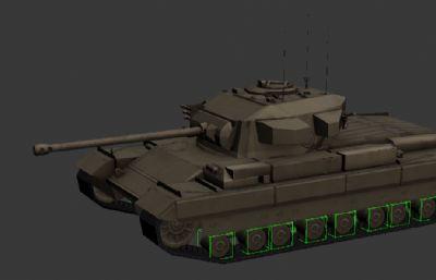 英国二战坦克Caernavon卡那封3D模型