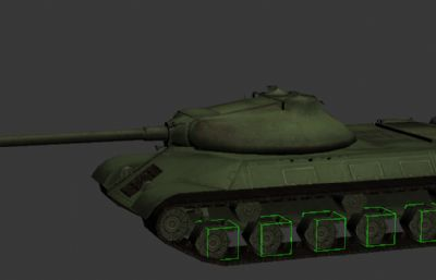 二戰蘇聯IS-3重型坦克3D模型