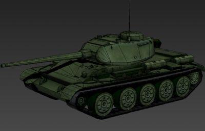 二�鹛K�T44坦克3D�模