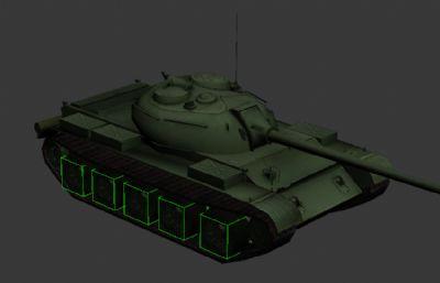 苏联T54坦克3D简模