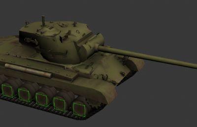 美國陸軍的重型坦克M26 3D模型