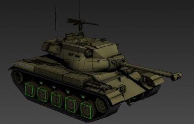 二�鹈��T49坦克���糗�3D模型