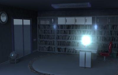 私人大书房maya模型