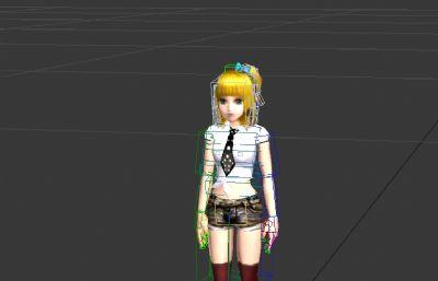 可爱女孩3D模型,带街舞动作