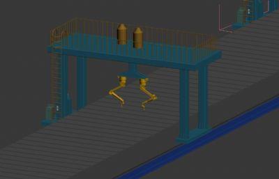 鋼板加工自動焊接機械手3D模型