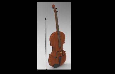 小提琴3D模型(白模)