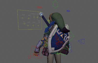 塞���_�髡f主角Link林克maya模型,�Ы�定,��完整�N�D