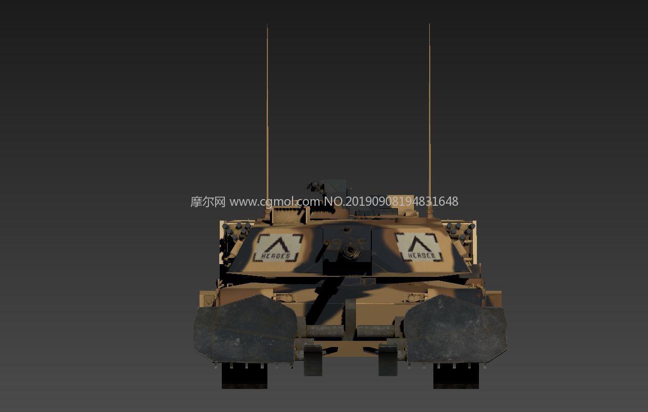 美��M1A1艾布拉姆斯改良型主�鹛箍�3D模型,游�蛏衬�涂�b,PBR材�|