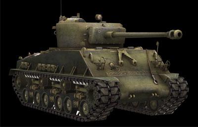 美��M4�x��曼中型坦克3D模型