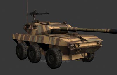 坦克歼击车LAV-600 3D模型,次?#26469;?#36148;图