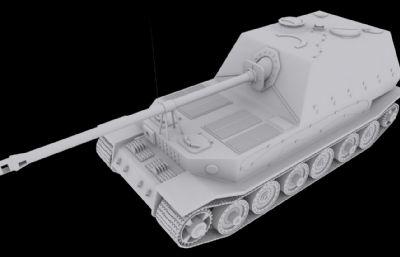 象式殲擊車3D模型