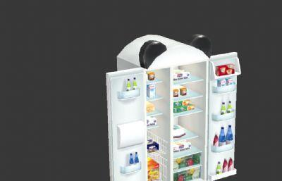 卡通�p�_�T冰箱3D模型