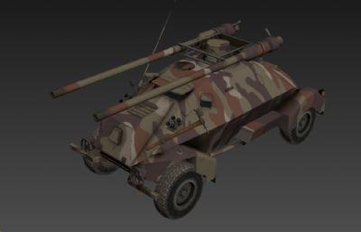 捷克-侦察车3D模型,次世代贴图