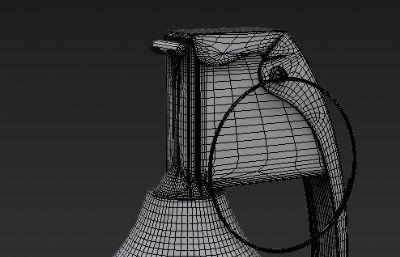 �F代�事手雷高模3D模型
