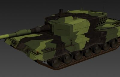 游�蛑械谋�二坦克3D模型