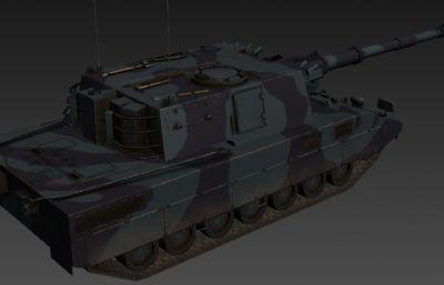 帕爾瑪莉亞(Palmaria)坦克3D模型,次世代貼圖