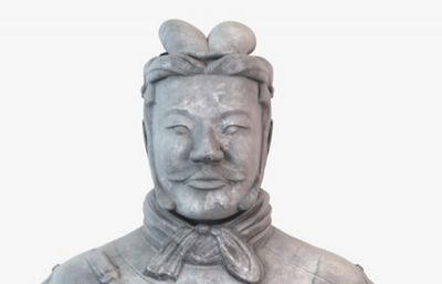 超精细文官兵马俑3D模型
