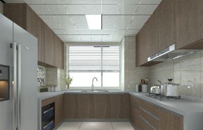 现代厨房整体场景3D模型