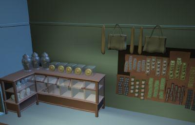 百货店,杂货店,便利店maya模型