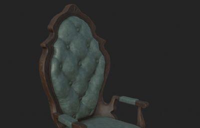 �W式椅子3D模型
