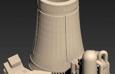 核�站,�l�站冷凝塔,反��堆等�O��STL模型