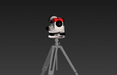 水准仪测量仪器3D模型
