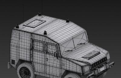 北汽猛士�用吉普3D模型白模