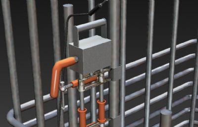 鋼筋架+焊接機,焊接鋼筋3D模型