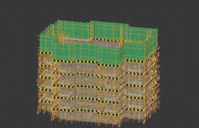 正在施工期�g的大��3D模型