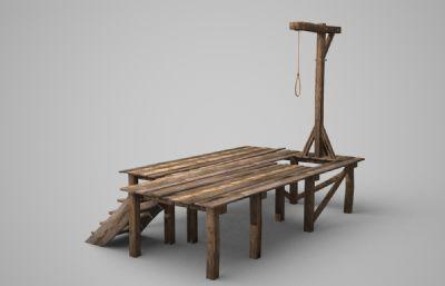 古代吊死��Q��,刑�P��,法��3D模型