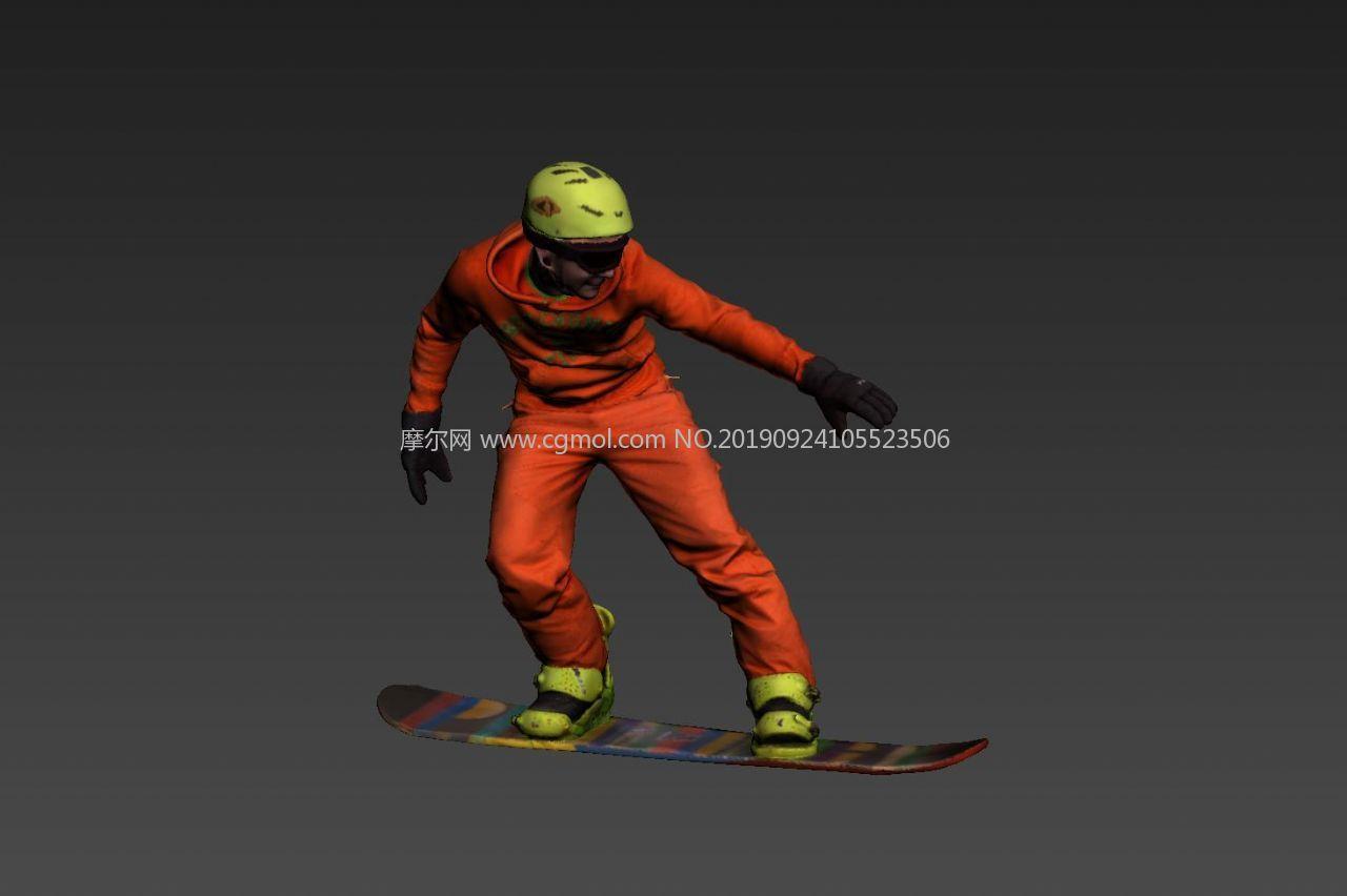 滑雪运动员3D模型
