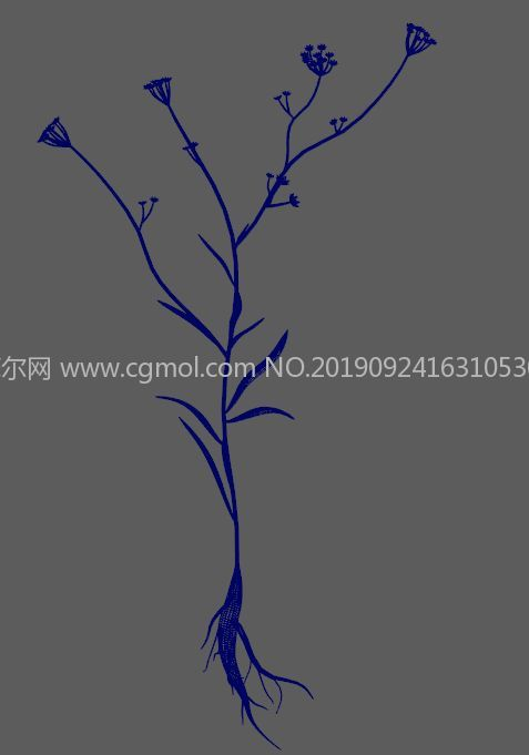柴胡����植株FBX模型