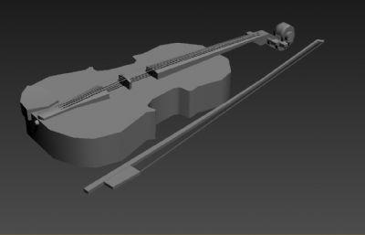 小提琴3D低模