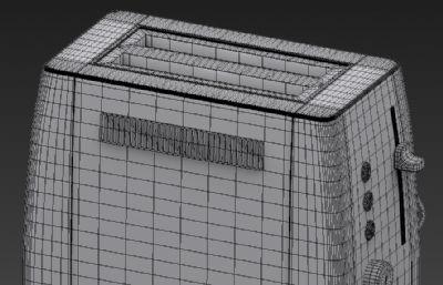 面包机3D模型白模