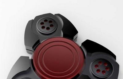 铝合金CNC夜光指尖陀螺3DM模型
