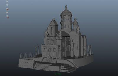 maya城堡模型