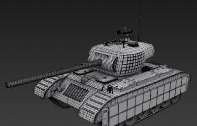 潘興坦克,二戰重型坦克3D模型白模