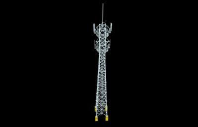 �F塔,信�塔3D模型