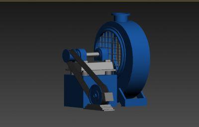 鼓风机工业设备3D模型