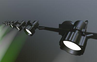 射灯,舞台灯,探照灯OBJ模型