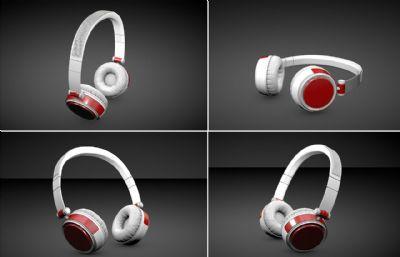 写实耳机C4D模型