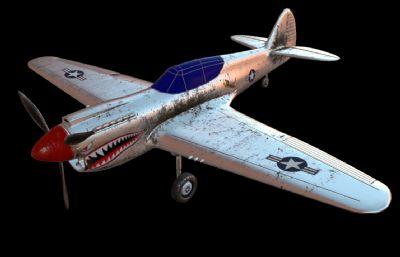 P-40�鸲�C3D模型